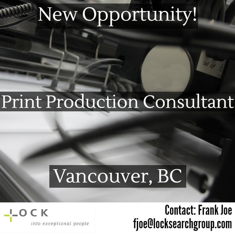 print production consultant b2b recruiter - Production Consultant
